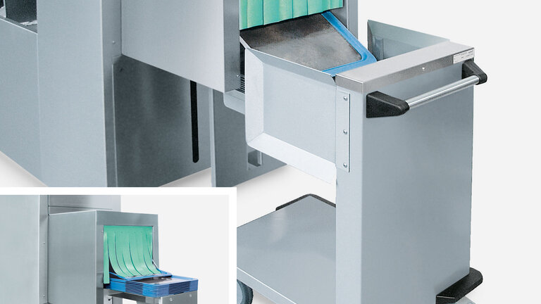 Intermediate tray stacking device